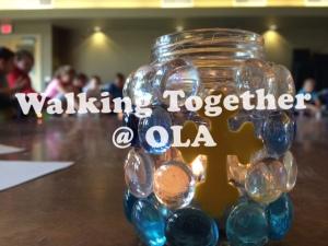 walking together at OLA