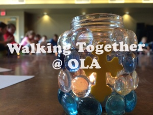 walking together at OLA