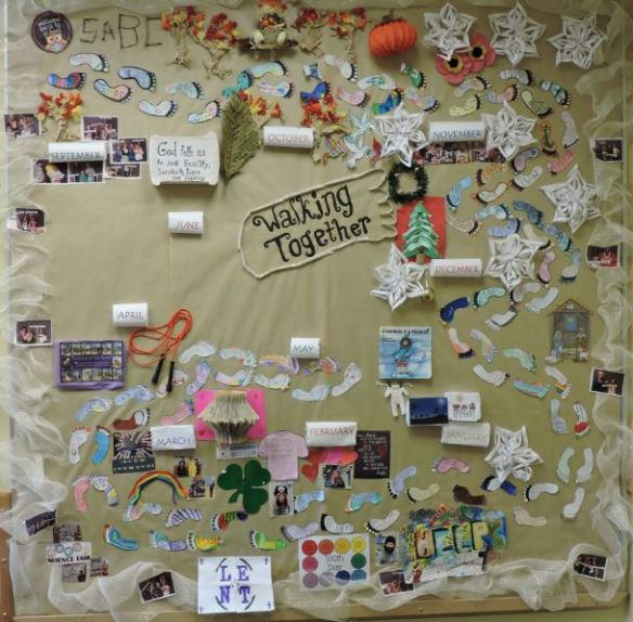 Walking Together bulletin board 2015