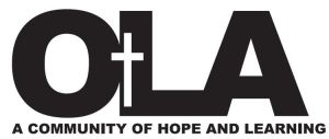OLA new logo with motto - black