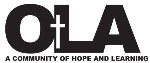 OLA new logo with motto - black