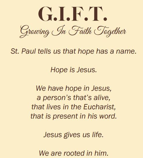 Growing In Faith Together G.I.F.T – Gro...