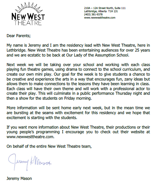 New West letter March 23 17
