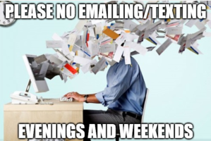 no emailing texting